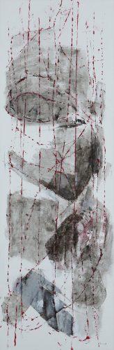 Hinter Schnüren 2 | 40 x 120 | 2009