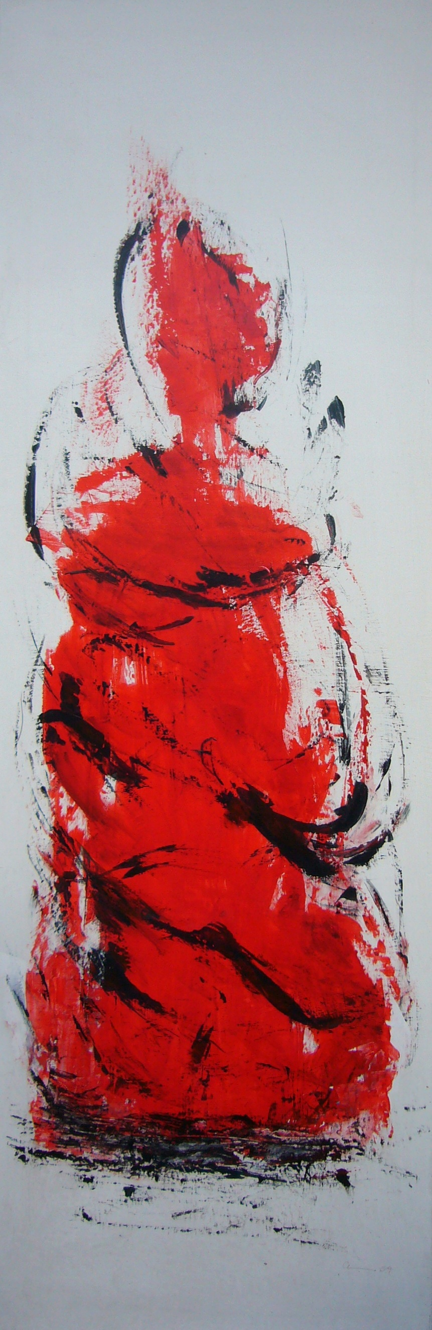 Lady in red | 40 x 120 | 2009