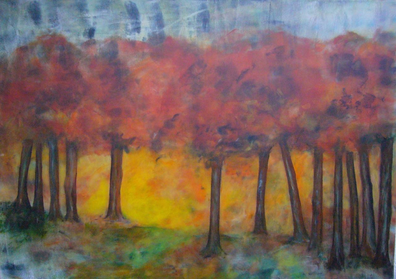Das Leuchten des Waldes | 70 x 100 | 2010