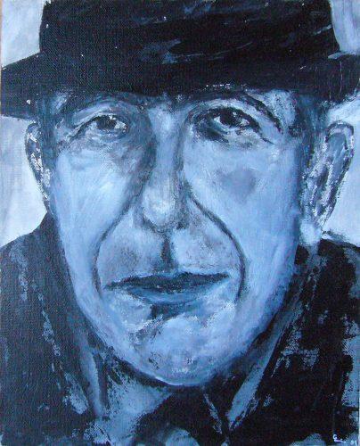 Leonard Cohen | 24 x30 | 2011