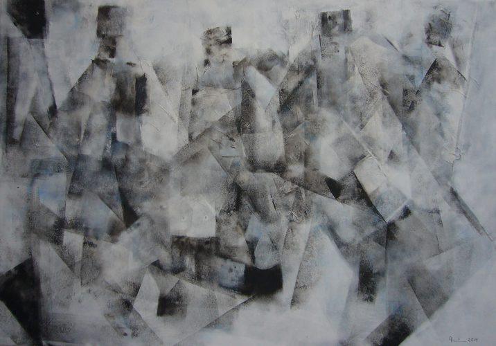 Gestalten im Nebel | 100 x 70 | 2014