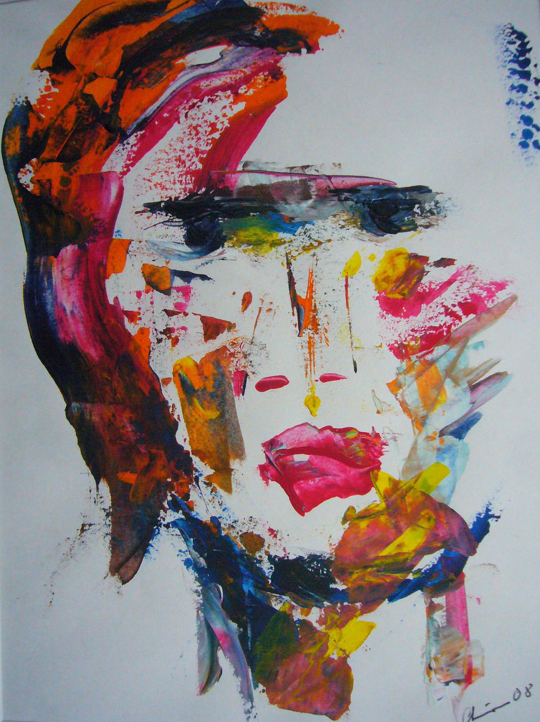 Traumfrau | Acryl auf Papier | 17 x 23 | 2008