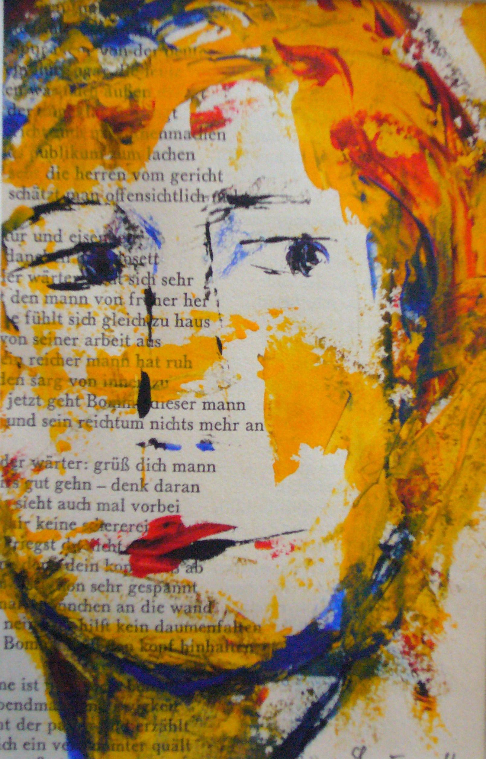 Die Leserin | Acryl auf Papier | 9 x 14 | 2010