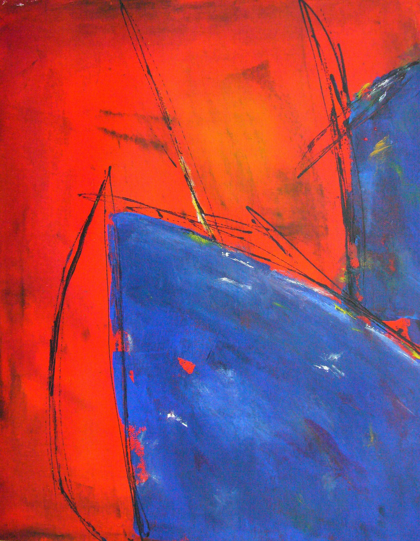 Auf nach Süden | Leinen | 30 x 45 | 2012